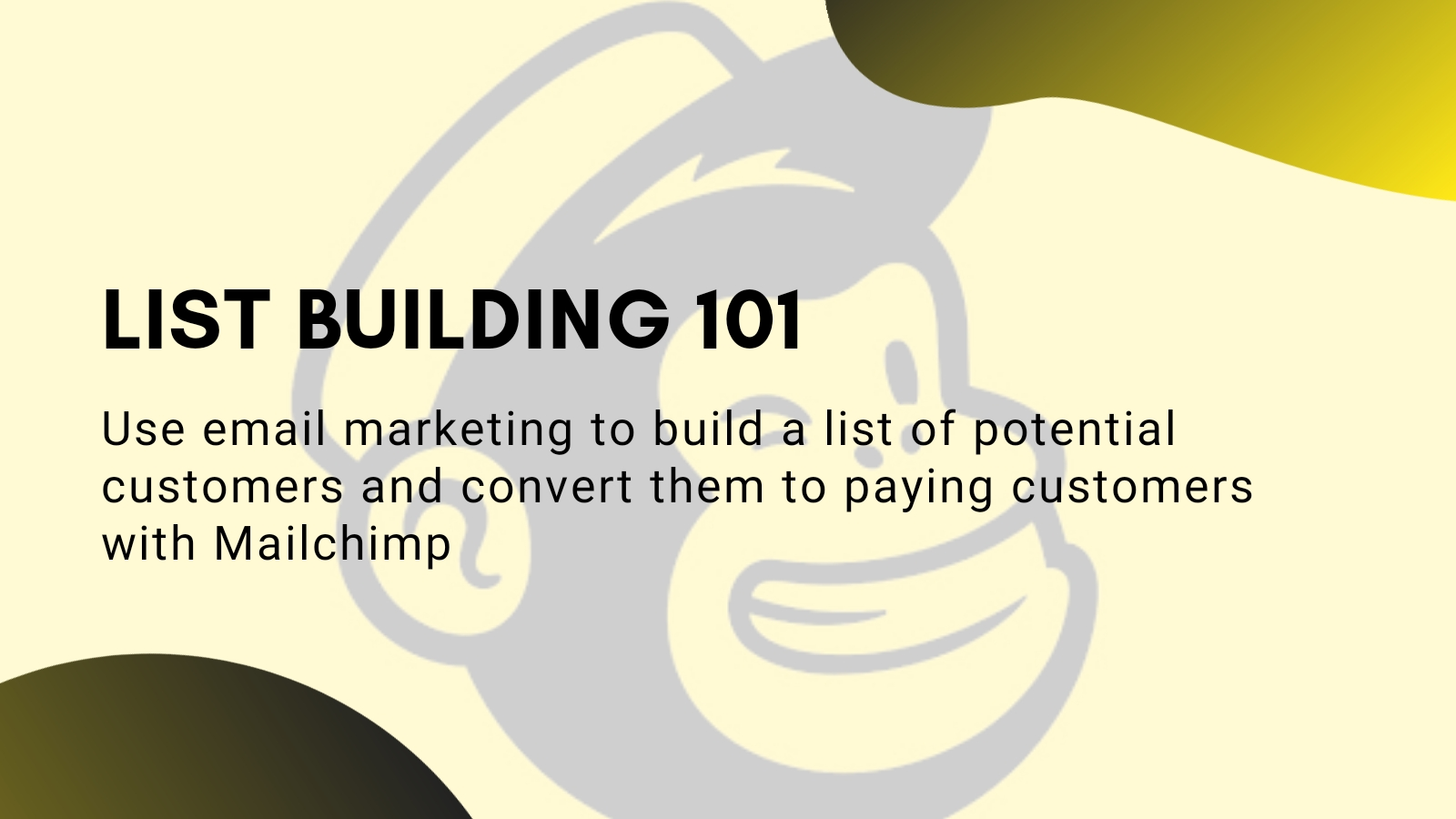 Email list building 101 (coming soon!)