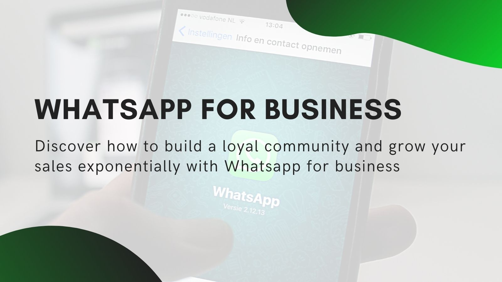 Whatsapp for business (coming soon!)